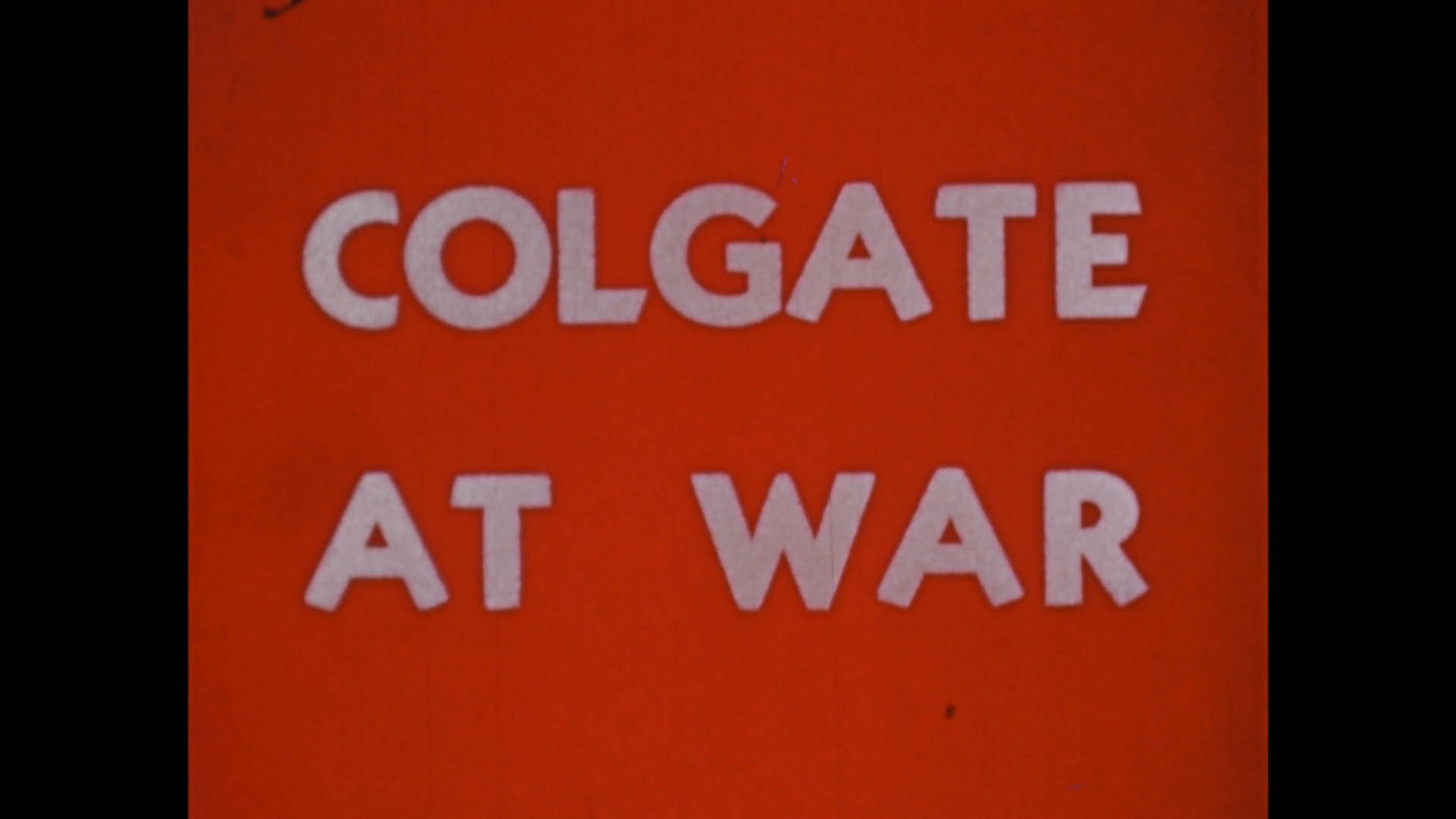 Colgate at War
